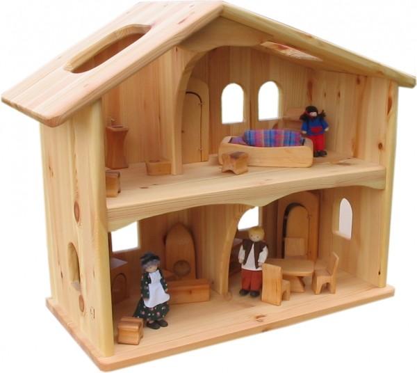 puppenhaus holz verneuer. Black Bedroom Furniture Sets. Home Design Ideas