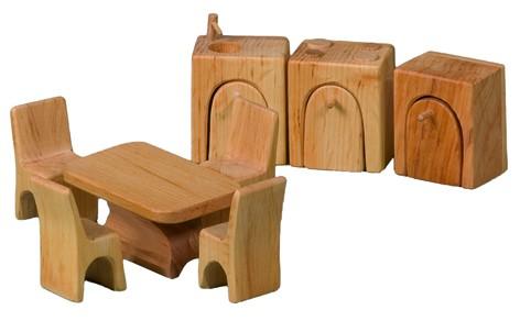 Möbelsatz Küche für Puppenhäuser 8-teilig