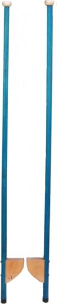 Stelzen aus Esche, blau
