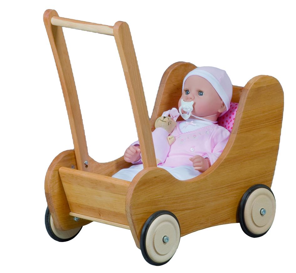 Pinolino Puppenwagen Holz Maria Buche Weis ~ Puppenwagen Lauflernwagen Mit Bremse 3 Pictures to pin on Pinterest